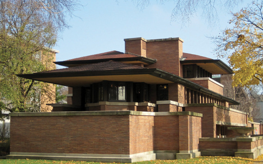 Frank Lloyd Wright, Frederick C. Robie House, 1908-1910 - By Teemu08 (Own work) [CC BY-SA]